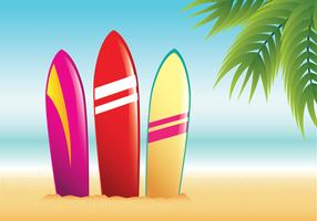 Surfboard Summer Beach Vector