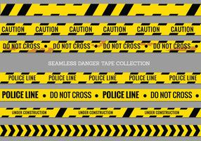 Danger Tapes, Police Line and Do Not Cross Seamless Vector