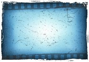 Blue Film Grain With Bokeh Vector