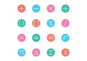 Math Symbol Icon Vectors