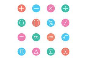 Math Symbol Icon Vectors