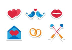 Bright Flat Wedding Icons