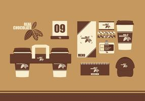 Real Chocolate Corporate Identity Free Vector