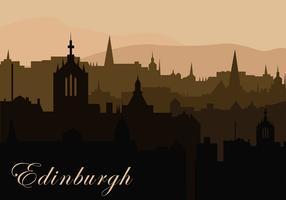 Edinburg Background Silhouette Free Vector