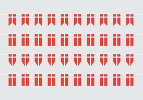 Danish Flag Vector Buntings