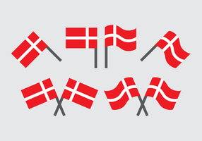 Danish Flag Vector Collection