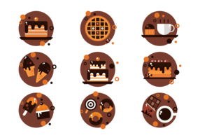 Chocolate Icons Vector