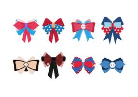 Cute Patriotic Hair Ribbon Free Vector