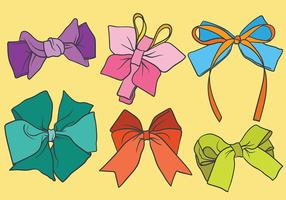 Free Hair Ribbon Icons Vector