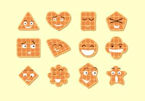 Cute Waffle Free Vector
