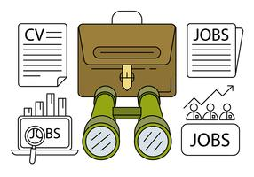 Linear Job Hunting Icons