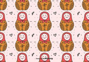 Matryoshka Dolls Vector Pattern