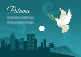 Paloma Night Free Vector