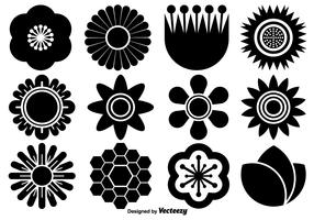 Vector Collection Of Flat Flower Icons