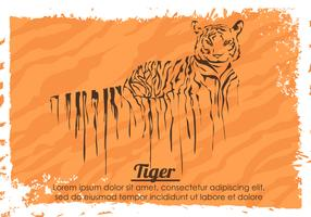Painted Dripping Tiger With Stripes Vector