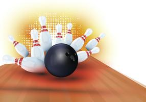 Halftone Bowling Lane Background