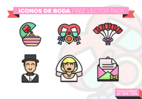 Iconos de Boda Free Vector Pack 3