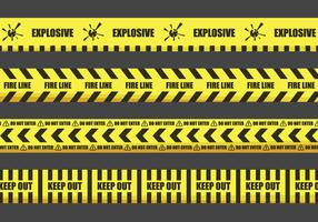 Warning Tape Illustrations