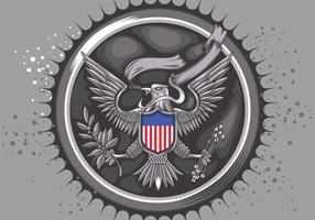 American Silver Eagle Vector