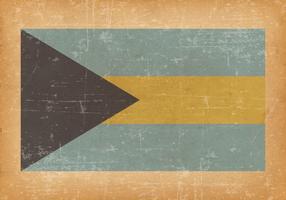 Bahamas Flag On Old Grunge Background