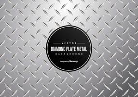 Placa del diamante del metal de fondo