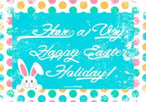 Cute Grunge Happy Easter Illustration