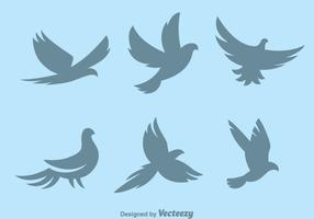 Silhouette Pigeon Symbol Vectors