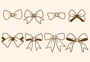 Hand Drawn Hair Ribbon Vectors
