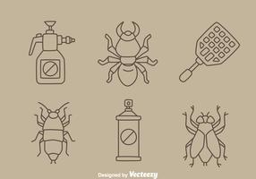 Pest Control Line Vector