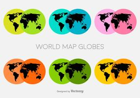 Vector Colorful World Map Icons