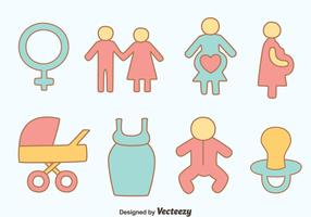 Hand Drawn Maternity Element Vectors