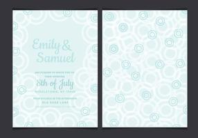 Vector Pastel Wedding Invitation