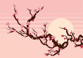 Peach Blossom Branch Free Vector