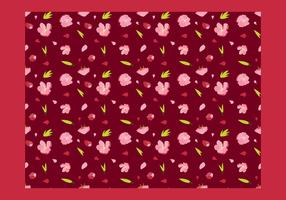 Peach Blossom Seamless Patern Free Vector