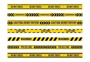 Danger Tape Seamless Free Vector