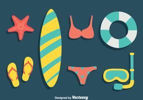 Beach Element Flat Vector