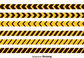 Yellow And Black Danger Tape Collection Vector