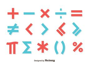 Red And Blue Math Symbol Vector