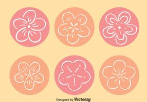 Hand Drawn Peach Blossom Vectors
