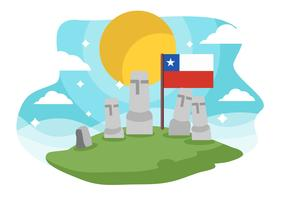 Free Chile Landmark Easter Island Background Vector