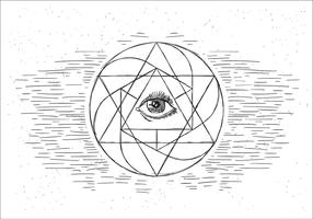 Free Sacred Geometry Vector  Illustration
