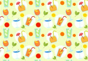 Free Beverages Pattern Vectors