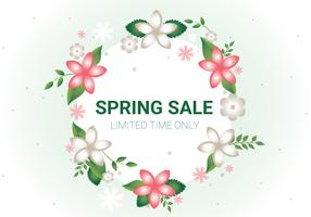 Free Spring Sale Vector Background
