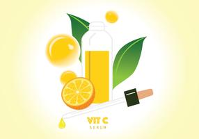 Vitamin C Serum Illustration