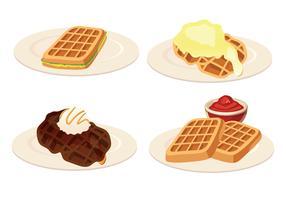Waffles Vector Illustration