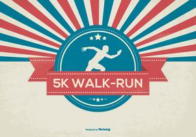 Retro 5K Walk Illustration