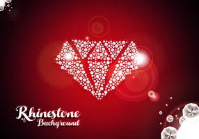 Rhinestone Diamond Background Vector