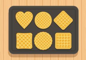 Waffles Set Free Vector