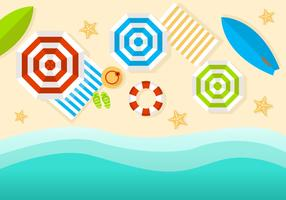 Free Beach Top View Vector