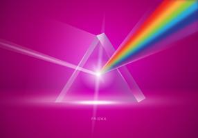 Realistic Prisma Triangle Vector Illustration
